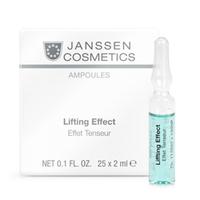 Janssen Skin Excel Glass Ampoules Lifting Effect (instant anti-wrinkle) - Лифтинг-эффект 25*2 млКонцентраты для лица<br>Концентрат для немедленного подтягивающего эффекта. Увлажняет и освежает кожу, повышает эластичность, разглаживает мелкие морщинки, придает коже здоровый вид. Идеален под макияж.Применение:Оберните ампулу бумажной салфеткой и резким движением отломите ее кончик. Вылейте содержимое ампулы на ладонь и затем распределите его по коже слегка надавливающими движениями. Поверх нанесите соответствующий дневной или ночной крем. Только для наружного применения!В салоне применять согласно регламенту процедуры.Активные компоненты:Экстракт водорослей, пуллулан (полисахарид), гиалуроновая кислота с длинной цепью.Объем:25*2 мл<br>