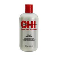 CHI  Silk Infusion - Гель восстанавливающий «Шелковая инфузия» 355 млСредства для лечения волос<br>Восстанавливающий гель «Шелковая инфузия» CHI, не требует процедуры смывания. Он обогащен натуральным шелком, соевыми и пшеничными протеинами, легко проникает в волосы и укрепляет их, делает удивительно мягкими, блестящими и послушными и нисколько не утяжеляет.Идеально подходит для волос любого типа и рекомендован для каждодневного использования.Применение: небольшое количество косметического средства нанести на волосы, распределить от корней до кончиков.Объем: 355 мл<br>
