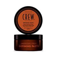 American Crew Defining Paste - Паста для укладки волос 85 млСтайлинг мужской<br>Паста от компании American Crew предназначена для средней фиксации прически, обеспечивая низкий уровень блеска волос. Глицерин делает волосы густыми и объемными. Ланолин придает сверхсильную фиксацию. А пчелиный воск увлажняет волосы, при этом обеспечивая стойкость прически. Удобная текстура, сочетаясь с легкостью применения, делает это укладывающее косметическое средство очень привлекательным для применения.Способ применения: Перед применение пасты American Crew Defining Paste следует вымыть голову увлажняющим шампунем American Crew Daily Moisturizing Shampoo, затем немного подсушить волосы полотенцем. Нанесите на подсушенные волосы фиксирующую пасту, начиная от кожи головы и заканчивая кончиками волос. Придайте понравившуюся форму волосам и наслаждайтесь стойкой и красивой прической.Объем: 85 мл<br>
