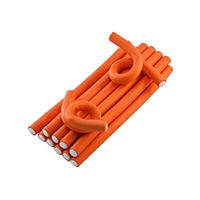 Harizma Professional h10982-16 - Бигуди-бумеранги 16х210 мм оранжевые (10 шт)