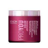 Revlon Professional Pro You Color Mask - Маска для сохранения цвета окрашенных волос 500 млМаски для волос<br>Маска для сохранения цвета окрашенных волос от Revlon содержит экстракты Ginko Biloba и целый спектр разнообразных UVA/UVB фильтров. Не секрет, что для окрашенных волос требуется особый уход и забота, поэтому компания Revlon разработала Сolor Treatment – специальную маску для ухода за волосами от Pro You. Ее эффективная формула позволяет активно восстанавливать и питать окрашенные волосы и кутикулу, защищать и оздоравливать кожный покров головы в целом. Благодаря своим удивительным свойствам и содержанию натуральных экстрактов Ginko Biloba, маска на долгое время сохранит цвет Ваших волос и богатство всех его оттенков.Применение: 2 раза в неделю. Массируя, нанесите на кожу и чистые увлажненные волосы. Смойте через 6-10 минут. Рекомендуется использовать после шампуня Revlon Pro You Color.Объём: 500 мл<br>