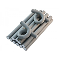 Harizma Professional h10982-18 - Бигуди-бумеранги 18х210 мм серые (10 шт)