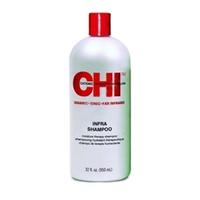 CHI Infra Shampoo - Шампунь Чи Инфра 946 млШампуни для волос<br>Шампунь CHI Инфра обладает превосходным мягким очищающим эффектом, восстанавливает баланс влаги и придает волосам силу. Идеально подходит для волос любого типа и рекомендован для ежедневного применения.Использование: Нанести на влажные волосы, добиться вспенивания, смыть.Объем: 946 мл<br>
