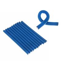 Harizma Professional h10983-24 - Бигуди-бумеранги 24х240 мм голубые (10 шт)