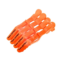 Harizma Professional h10986-09 Super Jumbo - Зажимы пластиковые усиленные оранжевые (4 шт)