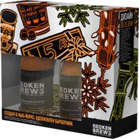 """Redken Brews - Подарочный набор """"основы мужского ухода из нью-йорка"""" (шампунь гоу клин 300 мл + шампунь минт клин 300 мл)"""