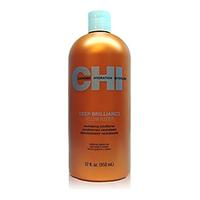 CHI Deep Brilliance Yellow Buster Neutralizing Conditioner - Кондиционер нейтрализующий желтый оттенок «Глубокий блеск» 950 млКондиционеры для волос<br>Кондиционер CHI «Глубокий Блеск» нейтрализует желтый оттенок волос, смягчает и увлажняет волосы, делает их яркими и гладкими, эффективно питает кожу головы.Рекомендован для седых и осветленных волос.Рекомендации к применению: нанесите кондиционер на волосы, от корней до самых кончиков. Выдержите 2 минуты, смойте.Объем: 950 мл<br>
