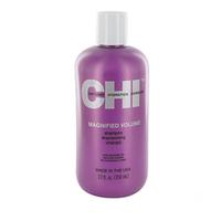 CHI Magnified Volume Shampoo - Шампунь Чи «Усиленный объем» 350 млШампуни для волос<br>Шампунь CHI «Усиленный объем» обладает мягким очищающим эффектом и наделяет волосы дополнительным объемом и блеском.Применение: Средство нанести на влажные волосы, распределить от корней до самых кончиков, после чего смыть. Повторить процедуру при необходимости.Объем: 350 мл<br>