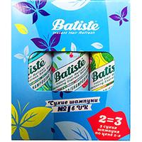 Batiste Dry Shampoo Kit Chery + Tropical + Original - Набор сухих шампуней 3x50 мл