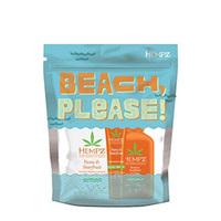 """Hempz Beach, Please - Набор """"привет,пляж"""" (текстурный спрей с морской солью 100 мл + бальзам для губ солнцезащитный увлажняющий юдзу и карамбола SPF 15 12 г + молочко солнцезащитное увлажняющее для тела SPF 30 66 мл)"""