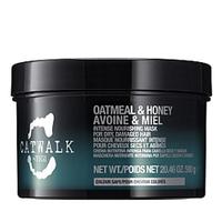 TIGI Catwalk Oatmeal &amp; Honey Mask - Интенсивная маска для питания сухих и ломких волос 580 млМаски для волос<br>Интенсивная, мягкая, увлажняющая маска для сухих, поврежденных и непослушных волос. Ее питательная формула возвращает волосам природное здоровье и послушность. Насыщенный состав маски Catwalk Oatmeal &amp; Honey Mask включает в себя протеины пшеницы, витамин Е и мед акации для восстановления влажности сухих волос и восстановления повреждений, вызванных агрессивной окружающей средой и горячими укладками, придавая волосам мягкость, эластичность и здоровый блеск.Применение:нанести на чистые волосы, оставить на 3-5 минут на волосах, после смыть.Объем: 580 мл<br>