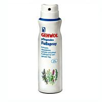 Gehwol Classic Product  Caring Foot Spray - Дезодорант для ног 150 млСредства для ухода за ногами<br>Ухаживающий дезодорант для ног «Sensitive» Геволь (Gehwol Caring Foot Spray) предназначен для ухода за чувствительной и раздраженной кожей. Пантенол и бисаболол успокаивают , смягчают и заживляют раздраженную кожу. Обладает продолжительным освежающим действием, благодаря содержанию ментола.Дезодорирует и защищает от возникновения грибковых инфекций (фарнезол и горная сосна). Мочевина обеспечивает необходимое коже увлажнение и защищает от образования загрубевшей кожи, аллантоин воздействие, укрепляет стенки сосудов. Спрей придает коже мягкость, гладкость и ухоженный вид.Применение: распылять на чистую и сухую кожу ног утром или вечером. Обрабатывать не только поверхность ног, но и промежутки между пальцами.Объем: 150 мл<br>