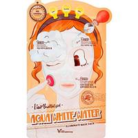 Elizavecca 3-Step Aqua White Water Mask Pac - 3-шаговая маска для лица увлажняющая 25 мл/2*2 мл
