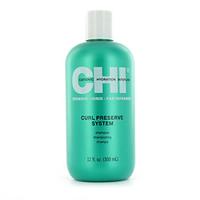 CHI Curl Preserve System Shampoo - Шампунь  для кудрявых волос 355 млШампуни для волос<br>Шампунь для кудрявых волос CHI обладает увлажняющим и мягким очищающим действием и эффективно разглаживает чешуйки кутикулы.Использование: нанести средство на влажные волосы, добиться вспенивания, смыть.Объем: 355 мл<br>