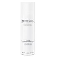 Janssen Demanding Skin Firming Face Neck &amp; Decollete Cream - Укрепляющий крем для кожи лица, шеи и декольте 200 млКрема для лица<br>Эмульсия с приятной шелковистой текстурой, предназначенная для реструктурирующего и укрепляющего ухода за кожей шеи и области декольте. Улучшает структуру кожи, стимулирует регенерацию клеток. Обладает исключительными характеристиками, делающими его подходящим для продолжительного массажа, обеспечивает эффект лифтинга. Интенсивно восстанавливает кожу, поврежденную солнцем.Применение:Наносите Firming Neck &amp; Decollete Cream на чистую кожу шеи и области декольте утром и/или вечером легкими массажными движениями.В салоне применять согласно регламенту процедуры.Активные компоненты:Редуктин, сквалан, гиалуроновая кислота, витамины С и Е.Объем:200 мл<br>