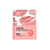 Berrisom G9 Skin Color Clay Sheet - Tension Red - Маска для лица глиняная листовая 20 г