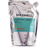 Goldwell Stright And Shine Agent 1 Regular - Смягчающий крем для натуральных нормальных и тонких волос 400 мл