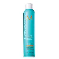 Moroccanoil  Luminous Hairspray Strong  - Сияющий лак для волос сильной фиксации 330 млУкладочные средства<br>Сияющий лак сильной фиксации Moroccanoil Luminous Hairspray Strong создан на основе формулы, в которой сочетаются самые современные ингредиенты и аргановое масло. Этот невесомый лак обеспечивает длительную, эластичную фиксацию, не склеивая волосы. Идеально подходит для создания и поддержания мягких, естественных укладок. Сияющий лак Luminous Hairspray обволакивает волосы светоотражающей вуалью, которая защищает волосы от влажности и завивания, при этом легко счесывается расческой без образования белого налета на волосах.Способ применения: для закрепления сделанной прически, распылите лак на волосы с расстояния примерно 25 см, для создания объема, распылить на корни волос и уложить их как вам нравится.Объем:330 мл<br>
