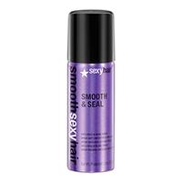 Sexy Hair Smooth Smooth &amp; Seal - Разглаживающий спрей 50 млУкладочные средства<br>Невесомый спрей для всех типов волос. Избавляет от пушистости, придает блеск, увлажняет волосы, блокирует проникновение влаги извне. Предотвращает пушение волос, сглаживает кутикулу, усиливая блеск волос, защищает цвет волос от выгорания под воздействием UVA/UVB лучей.<br><br><br><br><br>Способ применения<br>Распылите на волосы для лучшей управляемости, блеска и защиты от влажности. Может использоваться неоднократно в течение дня для гладкости и блеска по мере необходимости.<br>