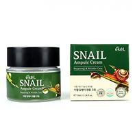 Ekel Snail Ampoule Cream - Крем ампульный для лица с муцином улитки 70 мл