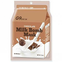 Berrisom G9 Skin Milk Bomb Mask Chocolate - Маска для лица тканевая 21 мл