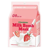 Berrisom G9 Skin Milk Bomb Mask Strawberry - Маска для лица тканевая 21 мл