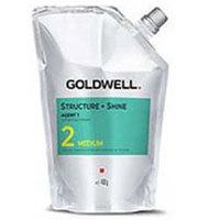 Goldwell Stright And Shine Agent 2 Medium - Смягчающий крем для окрашенных волос или волос с мелированием (до 30%) 400 мл