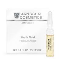 Janssen Skin Excel Glass Ampoules Youth Fluid - Ревитализирующая сыворотка в ампулах 25*2 млВитаминизирующие сыворотки для лица<br>Ревитализирующая сыворотка в ампулах эффективно омолаживает и глубоко регенерирует кожу, интенсивно увлажняет, разглаживает морщины, обеспечивает лифтинг-эффект и дарит лицу здоровый вид и сияние. В состав продукта входит экстракт риса и гиалуроновая кислота с длинной цепью.Применение:Оберните ампулу бумажной салфеткой и резким движением отломите ее кончик. Вылейте содержимое ампулы на ладонь и затем распределите его по коже слегка надавливающими движениями. Поверх нанесите соответствующий дневной или ночной крем. Только для наружного применения! В салоне применять согласно регламенту процедуры.Активные компоненты:Пептиды риса, гиалуроновая кислота с длинной цепью.Объем:25x2 мл<br>