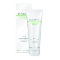 Janssen Combination Skin Tinted Balancing Cream - Балансирующий крем с тонирующим эффектом 50 млКрема для лица<br>Крем для гармонизации состояния комбинированной кожи с легким тонирующим эффектом. Нормализует активность сальных желез, улучшает состояние пор и матирует жирный блеск. Увлажняет и смягчает кожу, разглаживает морщинки, вызванные сухостью. Сложные углеводы, входящие в состав формулы, обладают уникальной способностью понижать количество липидов на жирных участках кожи и повышать его на сухих.Применение:Ежедневно утром наносите на предварительно очищенную кожу. Совет: Благодаря низкому содержанию липидов подходит для ухода за жирной кожей.Активные компоненты:Инозитол, экстракт алоэ вера, экстракт красных водорослей (Chondrus crispus), сложные углеводы из рисовых отрубей, матирующие микрочастицы (полиамидная пудра), тонирующие пигменты, глюкоза, витамины C и E.Объем:50 мл<br>