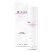 Janssen Sensitive Skin Complex - Восстанавливающий концентрат для чувствительной кожи 30 млКонцентраты для лица<br>Sensitive Skin Complex активно воздействует на все слои эпидермиса, укрепляя барьерные функции кожи. Улучшает сопротивляемость кожи внешним воздействиям. После применения на протяжении 4-х недель чувствительность кожи снижается на 49%*. Высокоэффективный концентрат предотвращает раздражение, интенсивно увлажняет, наделяет кожу матовым шелковистым сиянием.Применение:Наносите на чистую кожу утром и вечером, а поверх – Soothing Face Lotion или Calming Sensitive Cream.В салоне применять согласно регламенту процедуры.Активные компоненты:Комплекс Skin defense, оргазол, гиалуроновая кислота с короткой и длинной цепью, бисаболол.Объем:30 мл<br>