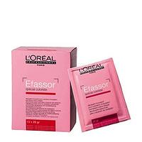 LOreal Professionnel Efassor - Пудра для удаления несовместимого оттенка Эфасор 1 штСредства для окрашивания волос<br>Пудра Efassor от L`Oreal Professionnel представляет собой уникальное средство для декапирования или удаления искусственного пигмента.Действие. Комплекс активных очищающих компонентов, входящих в состав средства от Лореаль, эффективно и быстро очищает ваши волосы от ранее нанесенной краски. Мягкая формула средства делает процесс удаления красящих пигментов бережным и деликатным.Результат.Использование средства для декапирования от L`Oreal Professionnel позволит вам бережно очистить волосы от ранее нанесенной краски и получить необходимое для последующего окрашивания осветление.Состав. Комплекс активных очищающих компонентов.Объем:12 х 28 г<br>