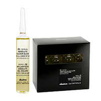 Davines Essential Haircare OI/Serum Absolute beautifying potion - Сыворотка для абсолютного блеска окрашенных волос 12х13 млСредства для лечения волос<br>Косметическая сыворотка для всех типов волос с маслом аннато. Подчеркивает цвет волос, придавая исключительный блеск. Сохраняет цвет окрашенных волос, облегчает процесс расчесывания. Рекомендуем использовать сыворотку после каждой услуги окрашивания.Применение: наносить на вымытые и подсушенные полотенцем волосы. При нормальных здоровых волосах нанести все содержимое ампулы, помассировать, хорошо расчесать и высушить волосы. Не смывать. При жестких или сухих волосах нанести кондиционер, оставить для воздействия, смыть водой. Нанести на волосы все содержимое ампулы, помассировать, хорошо расчесать.Обьем: 12х13 мл<br>