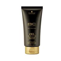 Schwarzkopf BC Bonacure Oil Miracle Gold Shimmer Conditioner - Кондиционер Золотое сияние 150 млКондиционеры для волос<br>Восстанавливает, разглаживает, распутывает и оздоравливает поверхность волос.Нормальные, грубые, сухие или химически обработанные волосы, нуждаются в распутывании и кондиционировании.Распутывает и кондиционирует сухие и поврежденные волосы до оптимального баланса.Оставляет волосы гладкими и не перегруженными.Придает превосходное сияние волосам.Не содержит силиконы.Активные ингредиенты:Масло Арганы – придает дополнительное сияние и делает волосы мягкими на ощупь.Пантенол (известный как Про-Витамин В5) – восстанавливает баланс влаги в структуре волос.Катионный полимер – активный ингредиент ухода, позитивно заряжен, «чувствует» и находит поврежденные зоны, ионным принципом покрывает поверхность волос.Для ежедневного применения.Способ применения:Вымойте волосы шампунем и нанесите кондиционер BC Oil Miracle на влажные волосы и примените деликатный массаж. Оставьте на 1-2 минуты и тщательно смойте. Далее нанесите на волосы масло - маску для волос Oil MiracleОбъем:150 мл<br>