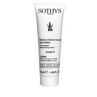 Sothys Time Interceptor Anti-Wrinkle Restructuring Serum Grade 3 - Anti-Age реструктурирующая сыворотка глубокого действия Grade 3 50 млСредства для ухода за волосами<br>Делает контур лица выразительным, тонузирует, помогает коже приобрести эластичность и упругость, делает морщинки менее заметными, подтягивает и хорошо реструктурирует кожу. Подходит для всех типов кожи. Эффективность средства доказана: 20%* увеличение упругости кожи.*Результаты теста 30-ти дневного независимого клинического исследования. Проценты отражают мнение 18 добровольцев .Измерения проводились прибором Cutometer.Активные компоненты:Мощный комплекс H2CR™ (антиоксиданты в сочетании с пептидами-мессенджерами) увеличивает количество здоровых клеток в коже, защищает от оксидативного стресса и нормализует межклеточную связь для пролонгированной оптимизации функций кожи.Экстракт из семян укропа способствует качественной работе эластина,который за счет стимулирования соедения фермента, участвующего в его сборке, помогает восстановить и придать эластичность коже.Матрикины - это биомиметические три- и тетрапептиды. Они повышают синтез фибронектина ,коллагена и гиалуроновой кислоты,которые улучшают тонус и повышают эластичность кожи.Протеины, содержащиеся в семенах сладкого миндаля эффективно подтягивают кожу, укрепляют и делают ее более гладкой, активизируют тонус, способствуют заметному повышению упругости кожи.Масло зародышей кукурузы обогащено веществами, необходимыми для процессов клеточного восстановления,такими как ненасыщенные жирные кислоты, фитостерины, витамины A, F и Е, лецитин и минералы. Масло обладает активизирующим, смягчающим, питательным действием. Экстракт хлопка увлажняет, эффективно улучшает структуру, успокаивает и придает коже невероятную гладкость.Комплекс Filagrinol® ( масло пшеницы, оливы, сои и экстракт пыльцы) наполняет кожу всеми нужными питательными веществами, поддерживает баланс влаги и смягчает, даря коже свежесть, сияние и упругость.Глицерин помогает сохранять в коже вл
