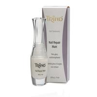 Trind Nail Repair Matt - Укрепитель ногтей матовый 9 млСредства для ухода за волосами<br>Trind Nail Repair – эффективное средство для укрепления и восстановления ногтей. Придает ногтям прочность и эластичность. Уникальная формула соединения молекул белка от Trind способствует образованию твердой структуры ногтевой пластины, сохраняя при этом естественную влагу. Nail Repair не высушивает ногти и не изменяет их натурального цвета. Поэтому Ваши ногти будут здоровыми и твердыми, но в тоже время эластичными.Рекомендации по использованию:Чтобы иметь красивые, здоровые и крепкие ногти, наносите Nail Repair непосредственно на ногти ежедневно в течение, как минимум, 2-х недель.Перед каждым нанесением удалите предыдущее покрытие с помощью жидкости для снятия лака Trind Nail Polish Remover.По окончанию 2-х недельного курса, Вы можете продолжить использование Nail Repair, нанося еженедельно один слой для поддержания результата.Хорошо встряхните флакон перед использованием, очистите края флакона после использования.Храните в недоступном для детей месте.Объём:9 мл<br>