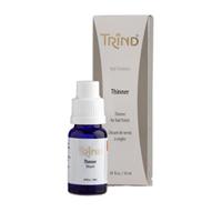Trind Thinner - Разбавитель лака 9 млСредства для ухода за волосами<br>Все мы часто сталкиваемся с проблемой - совсем недавно купленные лаки или укрепители становятся густыми. При покрытии ногтей ложатся неровно, медленно высыхают. Ногти выглядят небрежными и непривлекательными.Причинами загустения могут быть неплотно закрученная крышечка флакона, открытая крышечка флакона в течение длительного времени, истекшие сроки реализации. Каждая из причин приводит к испарению жидкости, изменению консистенции и загустению. Всего несколько капель разбавителя Thinner вернут лакам или укрепителям нормальную консистенцию, не изменяя первоначальных свойств.Рекомендации по использованию:Желательно добавлять Thinner за 20 минут до использования и хорошенько встряхнуть флакон. Разбавитель успеет равномерно распределиться по всему объёму и восстановит нормальную консистенцию.Никогда не использовать ацетон или средства для снятия лака в качестве разбавителя! Они неблагоприятно влияют на консистенцию, качество и свойства лаков или укрепителей.Объём:9 мл<br>