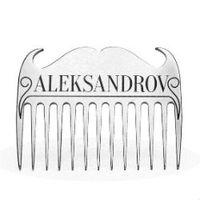 Aleksandrov - Гребень для бороды титан гравировка