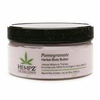 Hempz Pomegranate Body Butter - Крем питательный для тела с гранатом 235 грУход для тела<br>Питательный крем с гранатом для тела Pomegranate Body Butter обеспечит нежный уход за кожей, снабдит её всеми необходимыми питательными веществами и эффективно увлажнит. Состав крема полностью натуральный: масло и экстрагированные компоненты семян конопли оказывают тонизирующее и восстанавливающее воздействие, масло дерева ши и масло манго прекрасно смягчают кожу, а гранатовый экстракт способствует её полноценному обновлению.Применение: Необходимое количество крема нанести и распределить по поверхности тела, особое внимание уделив огрубевшим и сухим участкам кожи.Объем: 235 гр<br>