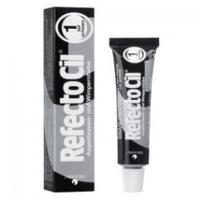 RefectoCil - Краска для бровей и ресниц черная 15 млКраска для бровей и ресниц<br>Универсальная краска RefectoCilдля окрашивания бровей и ресниц. Она идеально подходит для женщин со светлым цветом волос и предпочитающих натуральный стиль в макияже, очень практична в применении и позволяет в процессе смешивания получать дополнительные оттенки. Данная краска является качественным сертифицированным продуктом, она гипоаллергенна и не вредит волоскам. Материал экономен в использовании, а фасовки хватает не менее чем на 30 процедур.<br>