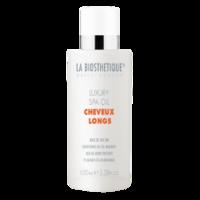 La Biosthetique Cheveux Longs Luxury Spa Oil - Кондиционирующий масляный SPA-уход 100 млМасла для волос<br>Описание продукта: Роскошное SPA-масло для длинных волос идеально подходит для поврежденной структуры волосяного стержня (особенно на кончиках), придает эластичность, шелковистость и ослепительный блеск. Предотвращает ломкость волос и защищает от пересыхания. Экспресс-уход для сияния и защиты волос, возвращает сухим и пористым волосам мягкость и эластичность. Не требует смывания (ухаживающее SPA-масло). Дарит волосам чувственный аромат.Применение: Несколько капель масла нанесите на ладони и распределите по всей массе волос или только по длине. Не смывайте. Масло можно наносить как на сухие, так и на влажные волосы.Объем: 100 мл<br>