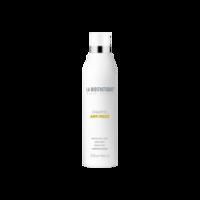 La Biosthetique Anti Frizz Shampoo - Шампунь для непослушных и вьющихся волос 250 млУкладочные средства<br>Описание продукта: Shampoo Anti Frizz - мягкий очищающий шампунь для укрощения непослушных натурально вьющихся волос. Заботится о волосах, питая их глубоко увлажняющим пантенолом и растительными липидами. Упрямые локоны легче укладываются и приобретают шелковистый блеск. Усмиряет непослушные локоны. Смягчает завитие при повышении влажности. Очищает очень бережно. Облегчает укладку непослушных волос. Результат гарантирован на 48 часов.Применение:Шампунь равномерно распределить по расчесанным волосам, вспенить и дать впитаться; тщательно смыть.Объем: 250 мл<br>