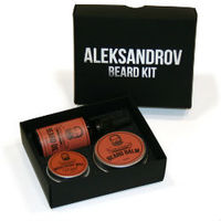 Aleksandrov Beard Kit №02 (Oil Sunset, Balm Sunset, Wax Mild Sunset) - Набор для ухода за бородой: масло, бальзам и воск