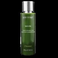 La Biosthetique Natural Cosmetic Bain Vital - Шампунь для поврежденных волос 250 млШампуни для волос<br>Описание продукта: Bain Vital – идеальный шампунь для поврежденных волос. Для тех, кто ценит натуральные компоненты в составе средств по уходу за волосами. Bain Vital не содержит искусственных красителей и отдушек, а также синтетических веществ, силиконов и парабенов. Выравнивает структуру поврежденных волос уже в процессе мытья и питает волосы реконструирующими компонентами. С чистейшими составляющими от самой природы. Выравнивает структуру волос. Восстанавливает волосы изнутри. Нежный аромат персиков и апельсинов.Применение: равномерно распределить по волосам, вспенить и ополоснуть.Объем: 250 мл<br>