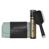 GHD Upbeat - Набор для укладки волос (плоская мини щетка + термозащитный спрей 120 мл + косметичка)