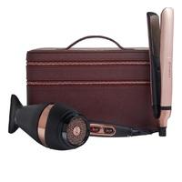 GHD Platinum+ - Набор для волос (стайлер + фен + несессер в оттенке розовое золото)