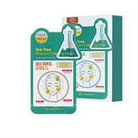 Mijin Cosmetics Uniquleen Tea Tree Essence Calming Mask - Маска для лица тканевая чайное дерево 26 г