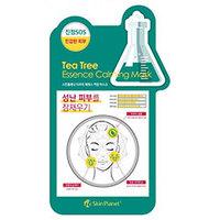Mijin Cosmetics Skin Planet Tea Tree Essence Calming Mask - Маска для лица тканевая чайное дерево 26 г