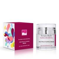 Beauty Style Taurine & Resveratrol Anti Age Plus Restructuring Mask - Реструктурирующая маска 50 мл