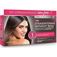 Kativa Straightening Without Iron - Набор для выпрямления волос «уход» для поврежденных волос с маслом купуасу и кератином (маска 150 мл + шампунь 30 мл + кондиционер 30 мл)