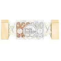 Invisibobble Original The Wonderfuls Duo Cracker - Резинка для волос (серебряные и бронзовые) 6 шт